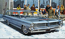 1964 Bonneville Safari Art - Ski New England