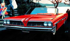 1961 Bonneville Red - Car Art