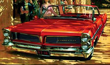1963 Red Bonneville Car Art - The Splendido