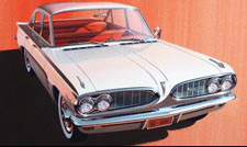 1962 Tempest Classic Car Art - Red, White, and Black